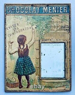 CHOCOLAT MENIER Tôle lithographiée 1900 signée Firmin Bouisset