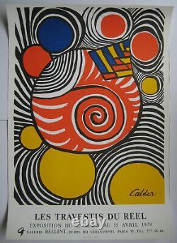 Calder Alexander Affiche En Lithographie Signée 1979 Lithographic Signed Poster