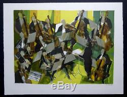 Camille HILAIRE grande Lithographie originale Signée Le Grand Orchestre musique