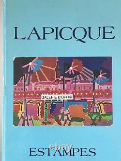 Charles LAPICQUE Estampe originale Lithographie Le Colisée