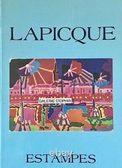 Charles LAPICQUE Estampe originale Lithographie Les Oliviers