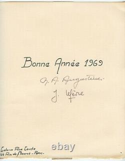 Christoforou John Lithographie 1969 Signée Crayon Num/150 Handsigned Lithograph