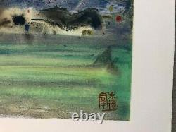 Chu Teh-Chun Chine Lithographie Papier RIVES Signée Édition Limitée