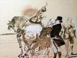 Claude WEISBUCH Au Cirque 1983 Lithographie originale signée IV