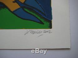 Corneille Lithographie 2002 Signée Au Crayon Num/75 Handsigned Numb Lithograph