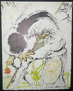 DALI Salvador La métamorphose de Hidalgo, Don Quichotte. Lithographie signée