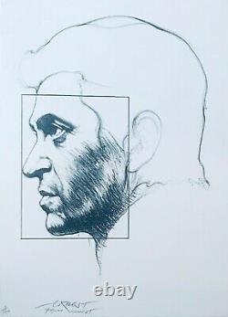 Ernest Pignon-Ernest, lithographie originale 1980- signée & numérotée au crayon