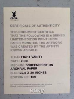 FAILE Sérigraphie signée-num/160 -ryca/dolk/eine/evil/dface/ludo/dran/hush/C215