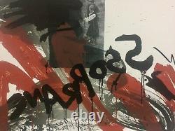 (FLUXUS) WOLF VOSTELL LE CRI Portfolio de 10 lithographies couleurs signées