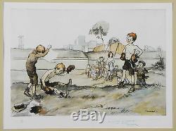 Francisque POULBOT 1879 1946'' Enfants de Montmartre'