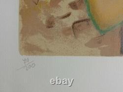 François BATET Elegante au collier LITHOGRAPHIE originale signée #200ex