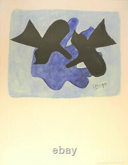 Georges BRAQUE (1882-1963) Affiche d'art en lithographie Pélias et Nélée 1977