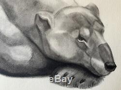 Georges Lucien GUYOT LITHOGRAPHIE GRAVURE ART DECO OURS POLAIRE POLAR BEAR