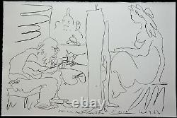 Grande Lithographie de Pablo PICASSO peintre et modèle, Regards sur Paris