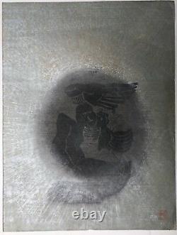 Gravure Lithographie originale par LEE Hang Sung (1919-1997) Corée Coréen