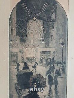 Gravure lithographie original Eugène Delâtre (1865-1922) Moulin Rouge Paris 1900