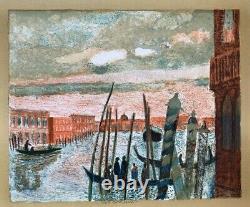 Guy Bardone (1927-2015) Lithographique Originale Vue De Venise Signee (14)