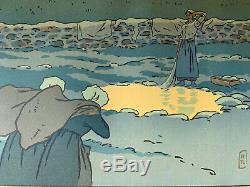 HENRI RIVIERE gravure lithographie bretonne bretagne marine