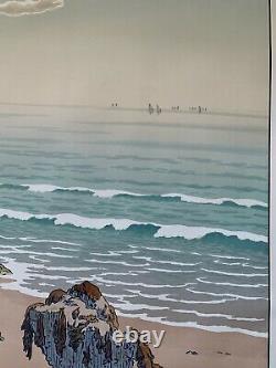 HENRI RIVIERE gravure lithographie bretonne bretagne marine 1900 La Plage