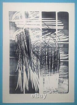 Hans HARTUNG Grande Lithographie 105x75cm de 1974 Signée 90ex. Lyrique Abstrait