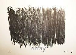 Hans Hartung lithographie originale signée dans la planche, 150 exemplaires