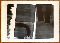 Hartung Hans Lithographie originale signée 1974 abstraction art abstrait
