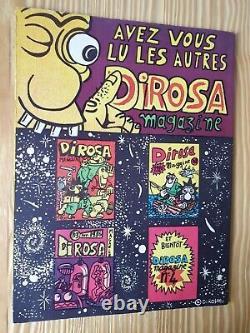 Hervé Di Rosa Magazine N°1, 2, 3 plus un découpage encarté La voiture à Raphaël