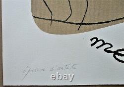 JOAN MIRO 1975 LITHOGRAPHIE Signée Epreuve d'Artiste SURREALISME