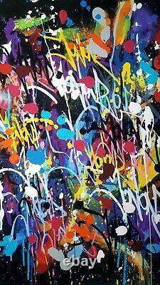JONONE Lithographie Originale My World Signée Numérotée Street Art Banksy
