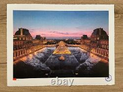 JR au Louvre 29 mars 19h45 2019 Signed and numbered Lithograph Edition /250