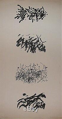 Jacques Germain Lithographie 1965 Art abstrait Bauhaus Academie Moderne p 534