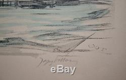 Jacques Villon Lithographie originale signée Série les bucoliques