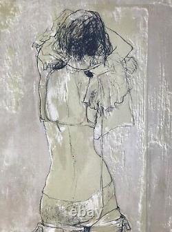 Jean Jansem Grande Lithographie Originale Hc Femme Nue De Dos