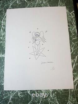 Jean MARAIS Lithographie signée numérotée 66x50 l'ange