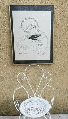 Jean Marais 1913-1998. Pie De Noël. Grande & Rare Lithographie Numérotée 33/50