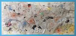 Joan MIRO Grande Lithographie authentique de 1961 garantie 59ans Maeght Art