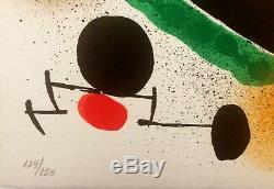 Joan MIRO Sans-titre Lithographie originale signée 1972