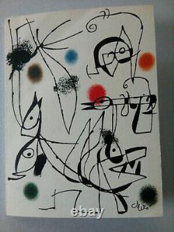 Joan Miro (1893-1983) Oiseaux, 1975 Lithographie Galerie Maeght Lelong (Paris)