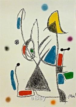 Joan Mirò Lithographie originale Barcelona Paris