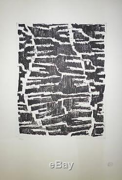 KEMENY Zoltan lithographie originale numérotée art abstrait Paris Zurich cachet