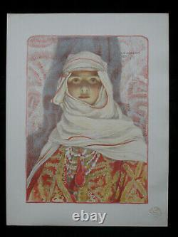 L'estampe moderne Louis-Auguste Girardot Femme du Riff original lithograph 1897