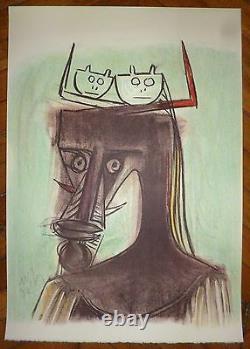 Lam Wilfredo Lithographie signée 1982 cuba surréalisme art abstrait abstraction