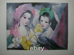 Laurencin Marie Lithographie Signée Numérotée Au Crayon Hc/50 Signed Lithograph