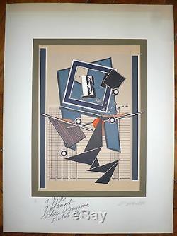 Le Yaouanc Alain Lithographie signée numérotée art abstrait abstraction