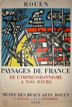 Leger Fernand Affiche Lithographie art abstrait cubisme Mourlot Fernand Léger
