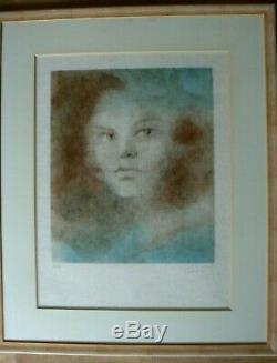 Leonor FINI Lythographie originale 44/75 taille 75 x 55 cm