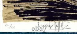 Lithographie Bernard BUFFET LHôtel Fujita à Kyoto 1981 signée numérotée