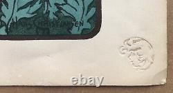 Lithographie Hans Christiansen Lheure Du Berger L'Estampe Moderne1897-1898