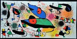 Lithographie Joan MIRO Sculptures 1 atelier Maeght, 1974