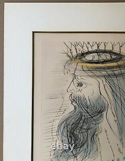 Lithographie Originale Salvador Dali Portrait Roi Salomon Signée Numérotée XXe